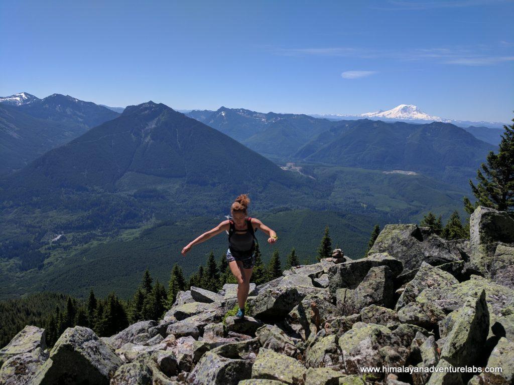Stephanie scouting on ridge to Teneriffe