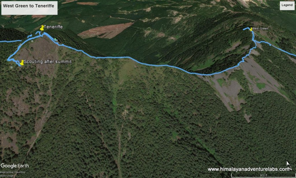 Tracks from Scouting the Ridge - The way point that we recorded on the far side ended up being key.