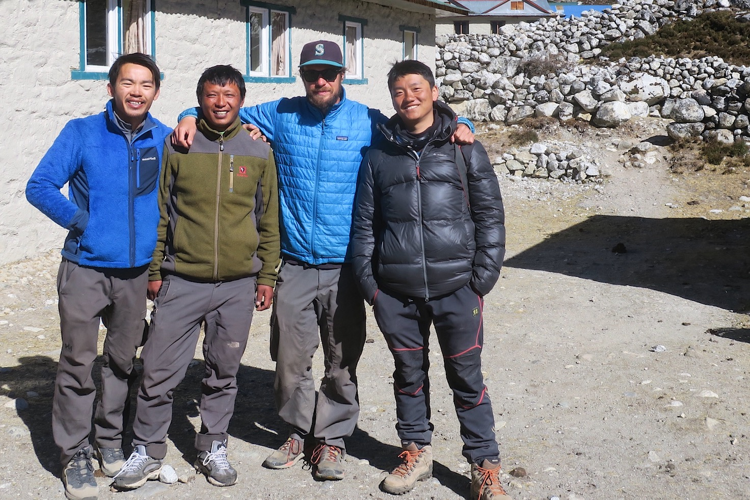 High altitude rescue squad. When Pemba isn't climbing Everest or saving lives, he's owning and operating the Tashi Dalek Lodge in Thagnek, and taking pictures with trekkers.