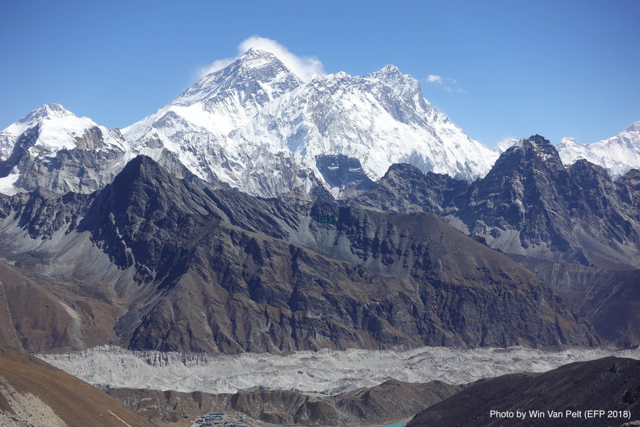 View of Mount Everest from Renjo Pass