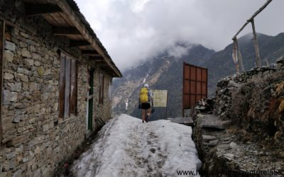 Still snow on some section. Picture from Thadepati.